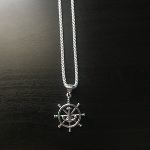 Sterling Silver Helm Pendant